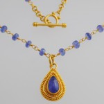 Tanzanite Neckpiece with Tanzanite Beads